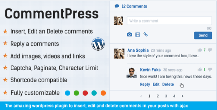 CommentPress Ajax Comments Insert Edit and Delete Comments plugin WordPress