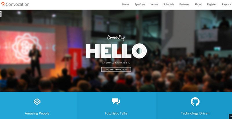 Convocation Themes Wordpress Creer Site Web Evenements Conference Congres Point De Presse