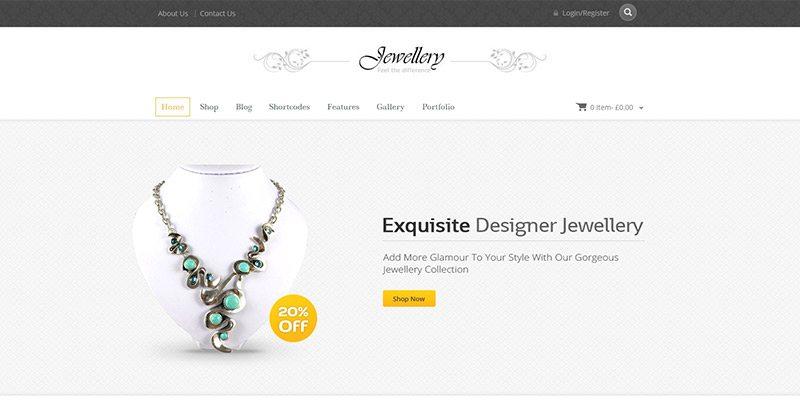 Jewellery themes wordpress creer site web mode e commerce boutique en ligne vetements
