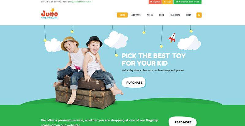 créer une boutique en ligne de vêtements pour enfants - Juno