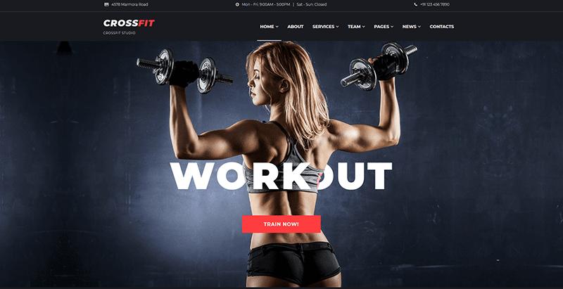 meilleurs thèmes WordPress de club de fitness - Kettlebell