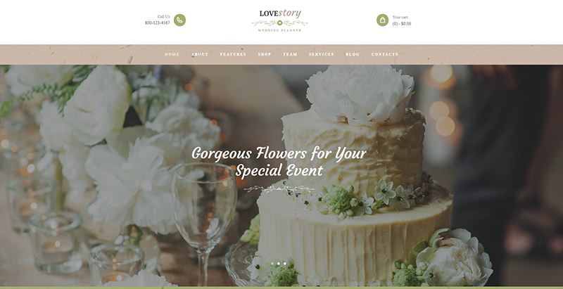 Lovestoryy themes wordpress creer site web mariage fiancailles epouse marie mariee