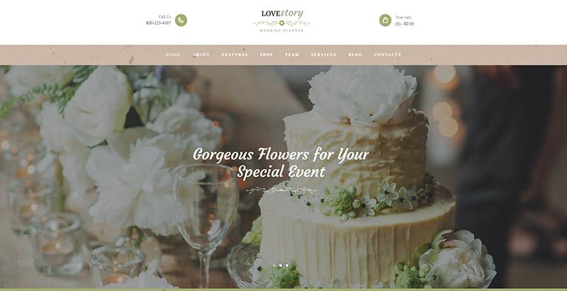 ธีม Lovestoryy wordpress สร้างเว็บไซต์แต่งงานหมั้นเจ้าสาวบ่าวสาว
