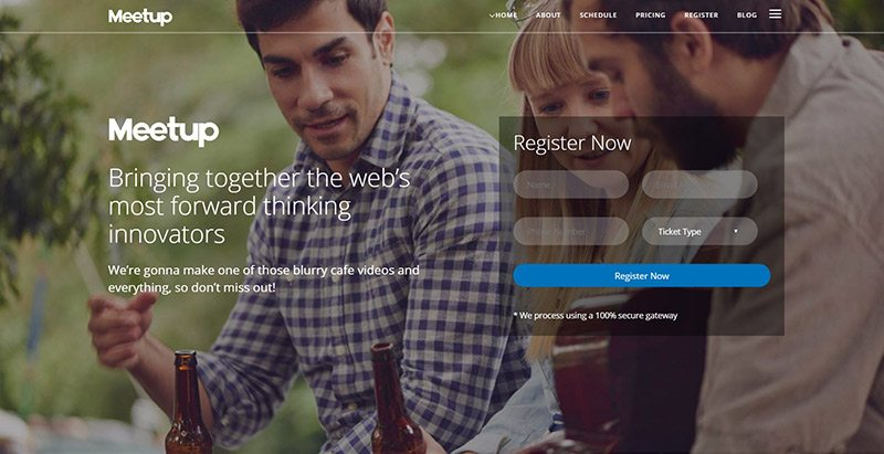 Meetup Themes Wordpress Creer Site Web Evenements Conference Congres Point De Presse