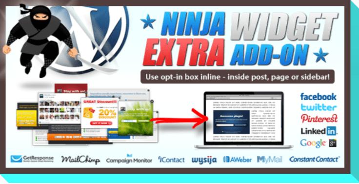Ninja widget extra add on