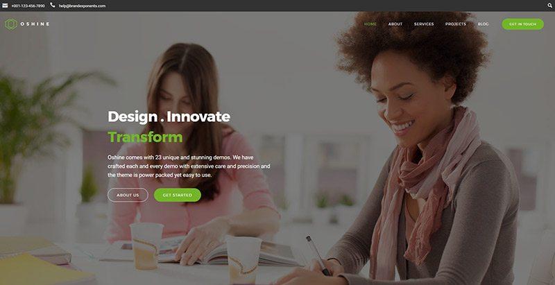 Oshine themes wordpress creer site internet freelance