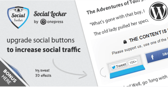 Social locker plugin wordpress verouilleur contenu blogpascher