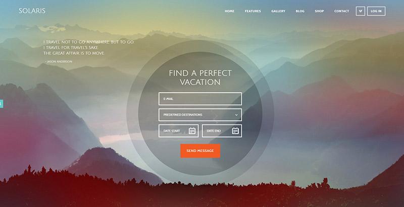 Solaris themes wordpress creer site web agence voyages tourisme hotel tour operateur