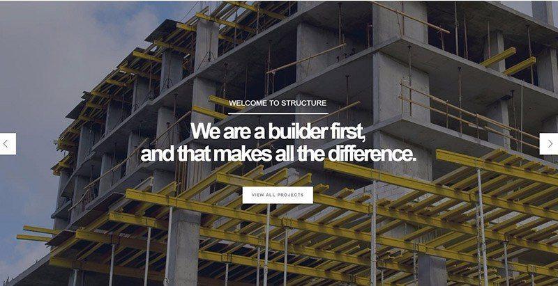 Structure themes wordpress creer site web entreprise construction vitrine societe