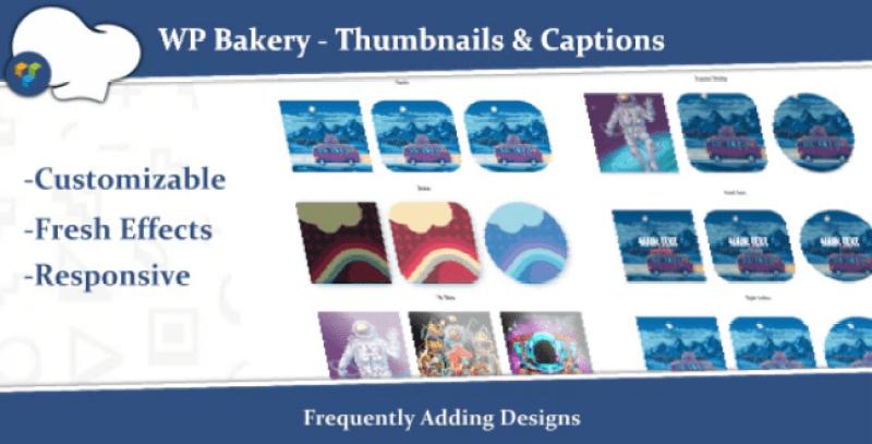 Wpbakery thumbnails captions pour ajouter legende