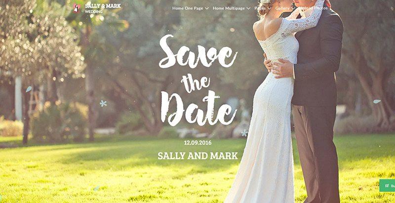 Tema de casamento wordpress create website organizador de eventos de noivado de casamento