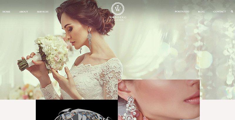 Weddingplanner themes wordpress creer site web mariage fiançailles évènements organisateur