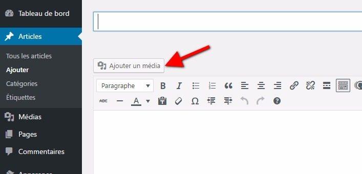 Ajouter un media sur wordpress