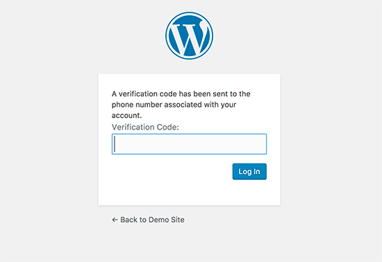 Code dauthentification wordpress twilio