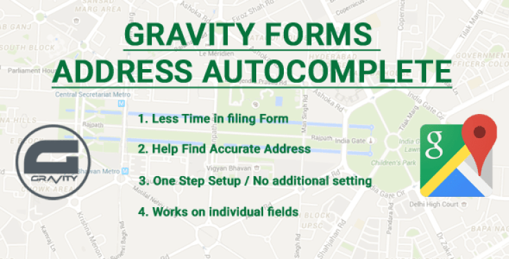 Gravity forms address autocomplete plugin wordpress pour formulaires
