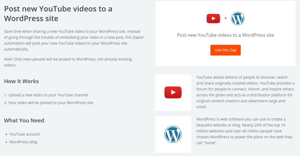 Pubblica nuovo video su wordpress