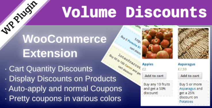 Wc volume discount coupons plugin wordpress pour réduction