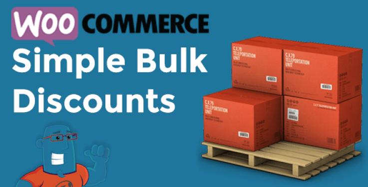 Woocommerce simple bulk discounts plugin wordpress pour réduction