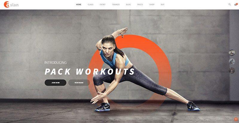 Aslan themes wordpress creer site web club fitness gym yoga