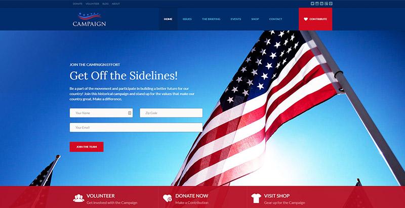 Temas de WordPress para crear un sitio web de partidos políticos ...