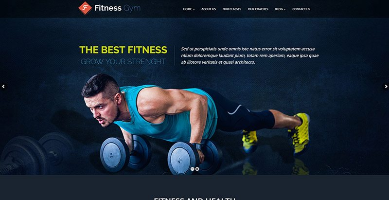Fitnessgym themes wordpress creer site web club fitness gym yoga