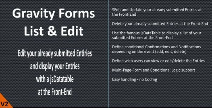 Gravity Forms List Edit plugins wordpress inserer tableaux graphiques site blog formulaire