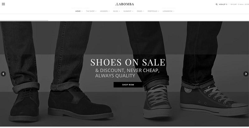 Labomba themes wordpress criar loja online roupas joias moda sapatos
