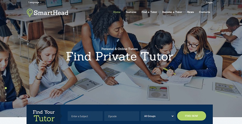Smarthead themes wordpress creer site apprentissage en ligne lms formation elearning