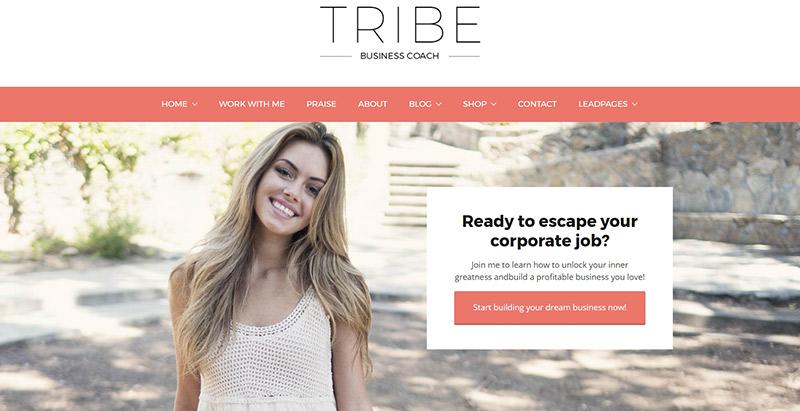 Tribo temas wordpress criar website coaching vida saúde desenvolvimento pessoal nutrição