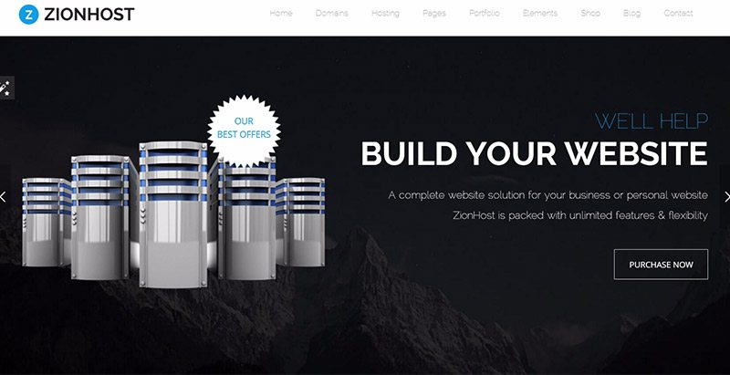 Zionhost themes wordpress creer site web entreprise hebergeur web cloud serveur dedie vps