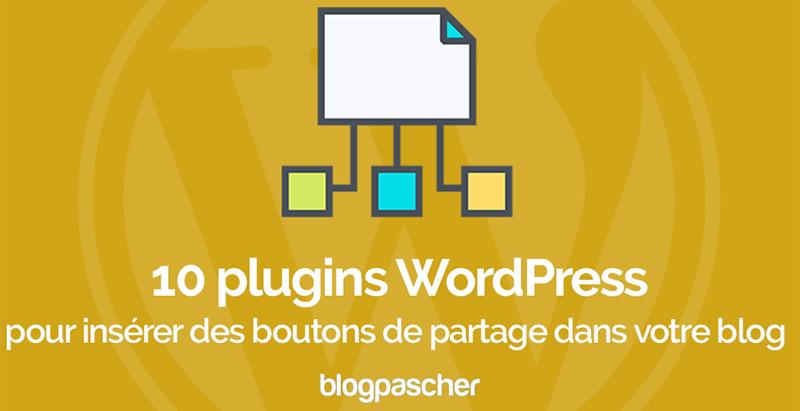 10 Plugins WordPress Pour Insérer Des Boutons De Partage Dans Votre Blog