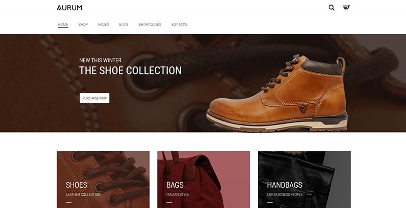 Aurum themes wordpress creer site ecommerce boutique en ligne vente achat commerce electronique