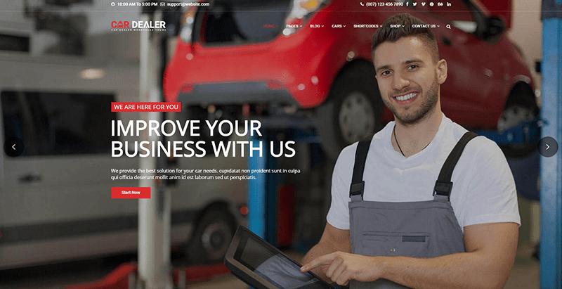 10 thèmes WordPress pour créer un site Web pour concessionnaire auto et garage