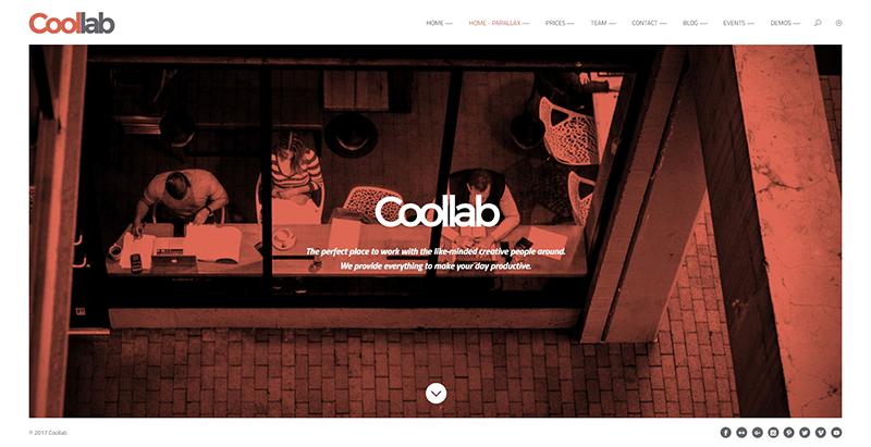 Coollab themes wordpress creer site web entreprise coworking bureaux