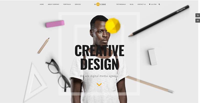 H code themes wordpress populaires creer site web entreprise ecommerce startup creative