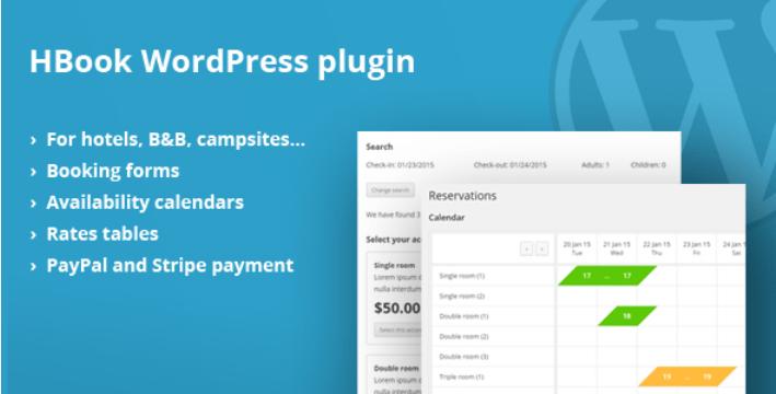 meilleurs plugins WordPress d'événements - Hbook