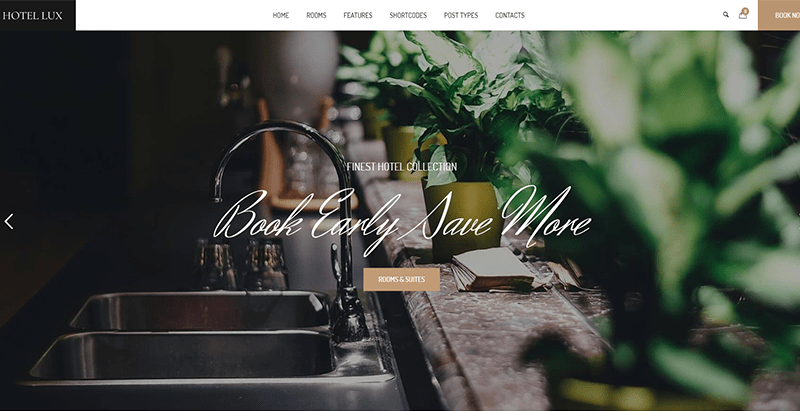 meilleurs thèmes WordPress - Hotel Lux