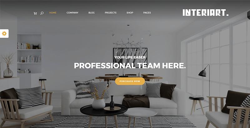 Interiart Themes Wordpress Vendre Mobilier Interieur Decoration Interieure Ecommerce