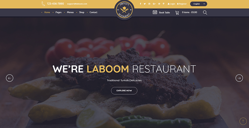 La boom themes wordpress creer site web restaurant cuisine recettes 1