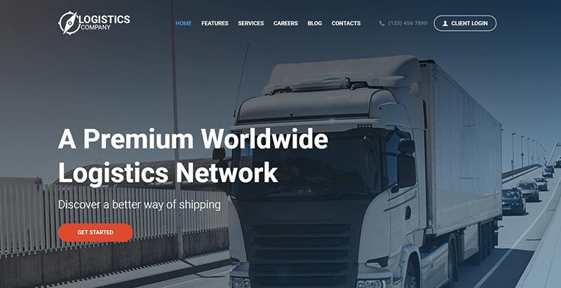 Logistics themes wordpress creer site web entreprise transport fret logistique livraison expedition
