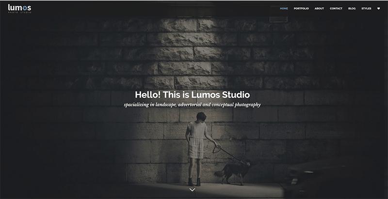 Lumos themes wordpress look sombre creer site web creative ecommerce magazine entreprise