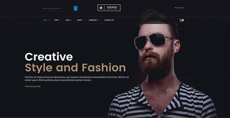 Marlboro themes wordpress look sombre creer site web creative ecommerce magazine entreprise