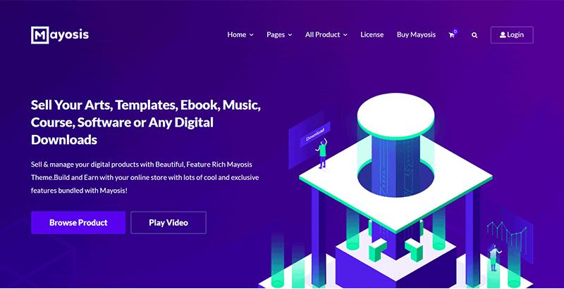 Mayosis Digital Marketplace Theme