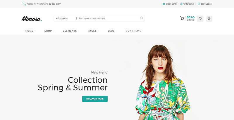 Mimosa themes wordpress creer site web ecommerce woocommerce vente en ligne