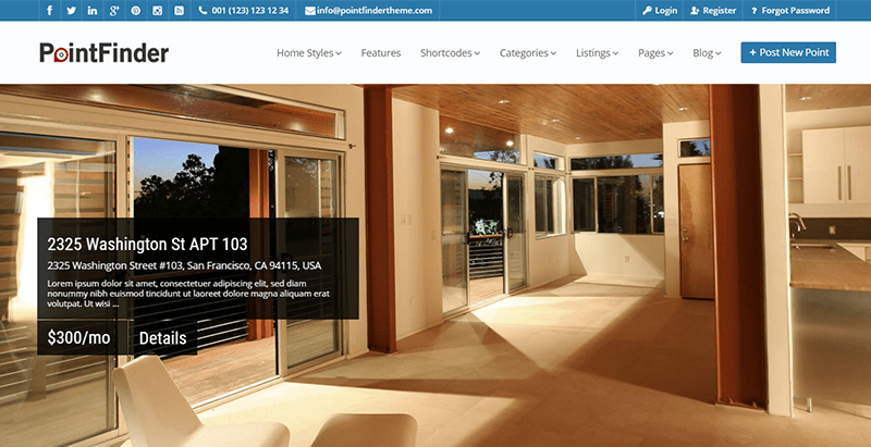 Pointfinder themes wordpress creer portail web annonces annuaire listing