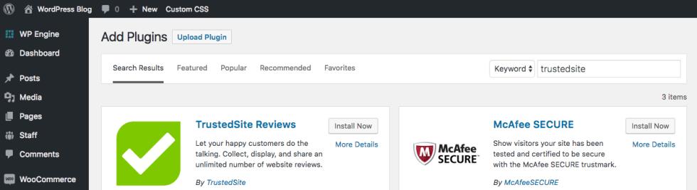 Avis wordpress trusted site