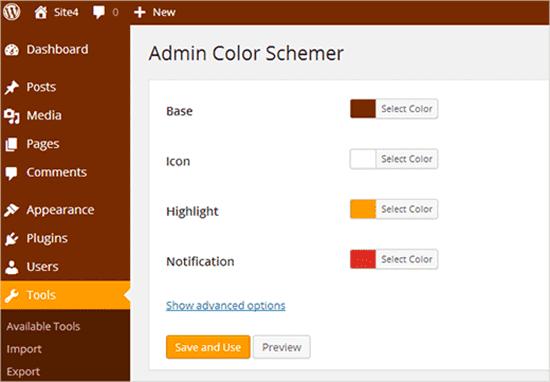 Modification des couleurs