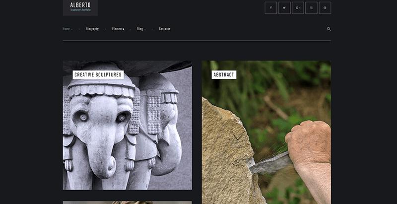 Temas de 10 WordPress para crear un sitio web de arte | BlogPasCher