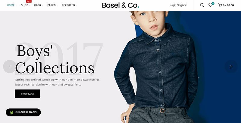 Basel themes wordpress creer boutique en ligne vetements site ecommerce