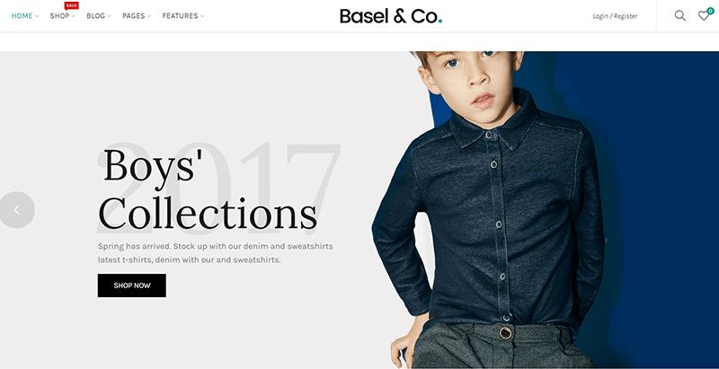 Basel themes wordpress vendre vetements internet site ecommerce
